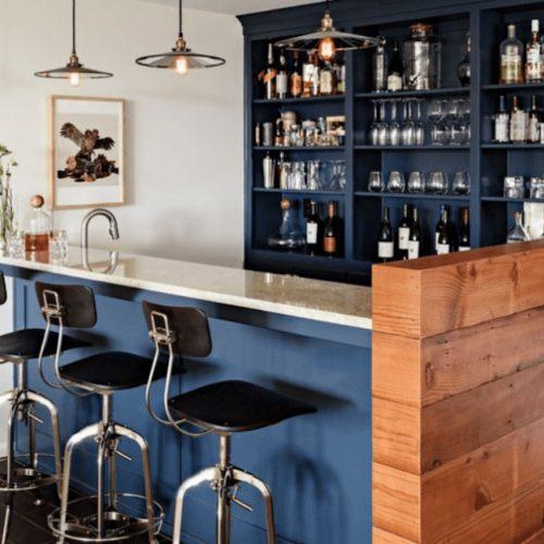 decoração masculina bar em casa home