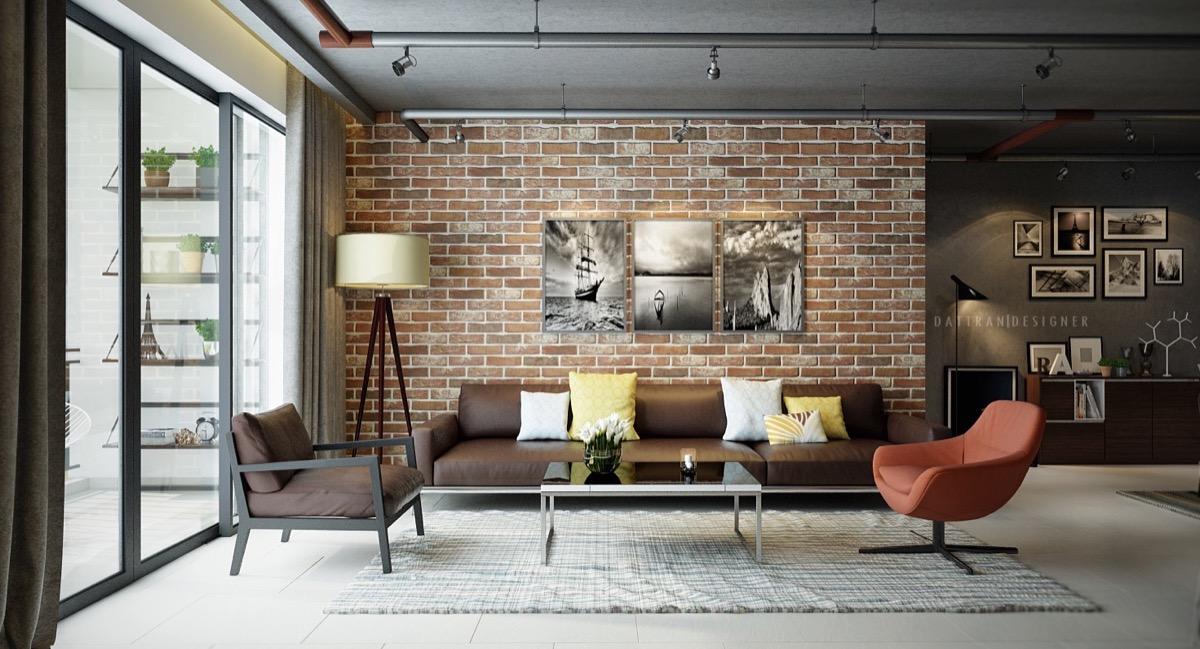 tijolo a vista aparente decoração